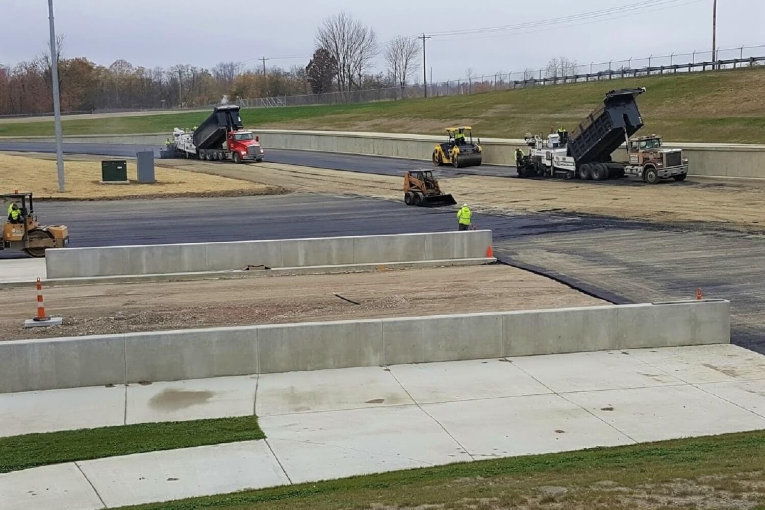 Drag Strip Paving Picture